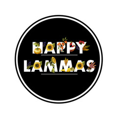 greeting banner lammas with autumn leaves vector image