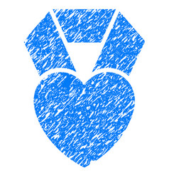 Heart award grunge icon vector