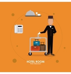 Hotel design Service icon Flat vector