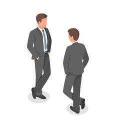 Isometric of businessman vector image