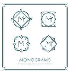 Letter M Monogram vector