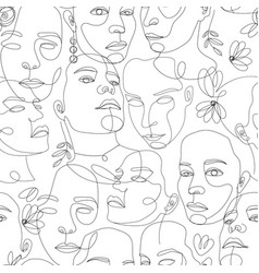 line art beautiful woman perfect for vector image