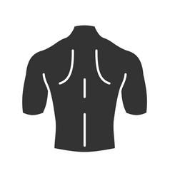 Mans back glyph icon vector