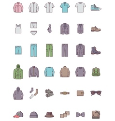 Men clothes set vector image