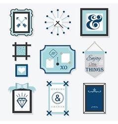 Modern blue frames and decoraton vector