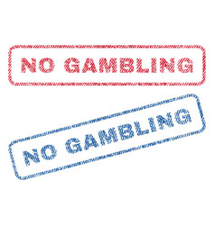 No gambling textile stamps vector