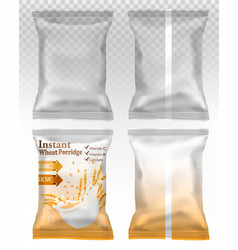 Polypropylene plastic packaging - instant vector