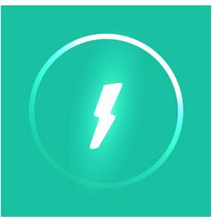 Power button template glowing lightning vector