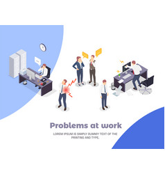 Problem situations at work isometric concept vector