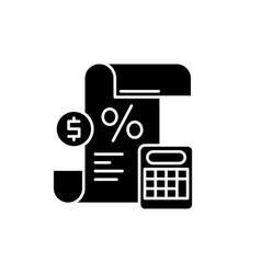 Profit and loss statement black icon sign vector