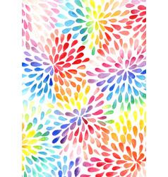 rainbow colorful petals flower shape watercolor vector image
