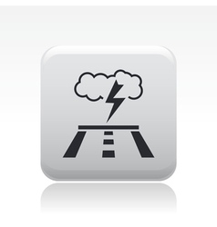road forecast icon vector image
