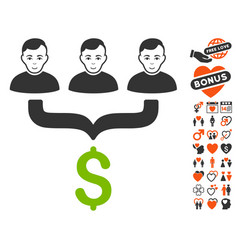 Sales funnel customers icon with lovely bonus vector