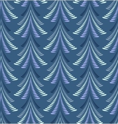 Seamless Christmas pattern Firs trees on dark vector image
