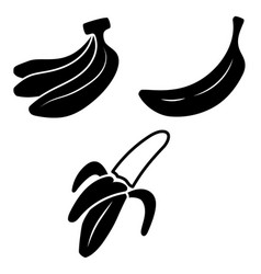 set icons banana design element for poster vector image