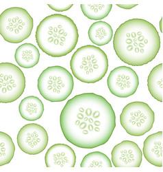 set of fresh green cucumbers vector image