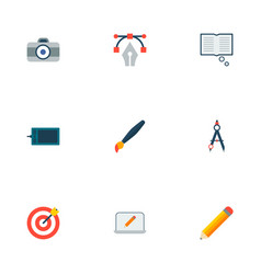 set of original icons flat style symbols with vector image