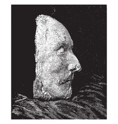 Shakespeare death mask right side vintage vector