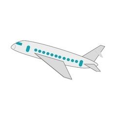 single airplane icon vector image