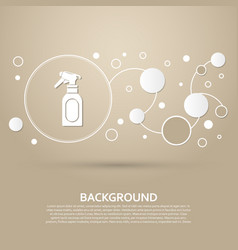 spray icon on a brown background with elegant vector image