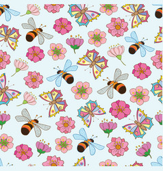 spring pattern 3 vector image