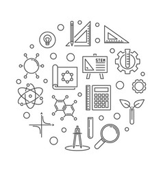 Stem concept simple outline round vector