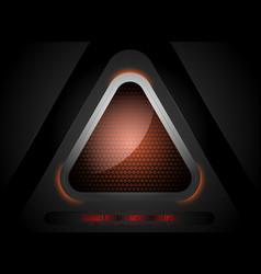 Triangle shapes lighting scene vector