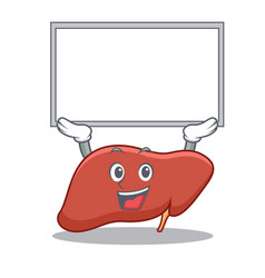 Up board liver character cartoon style vector