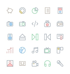 User Interface Colored Line Icons 38 vector image