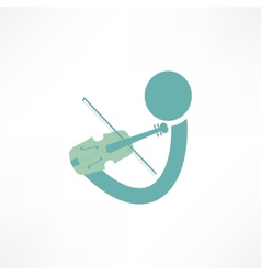 violinist icon vector image