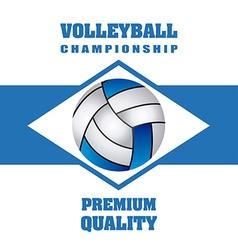 Volleyball emblem design vector