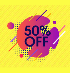 Yellow abstract sale background design vector