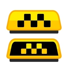 Yellow Taxi Logo Set with Boxes vector