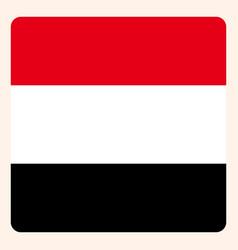 yemen square flag button social media vector image