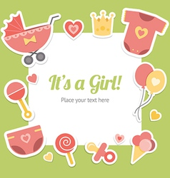 Baby shower for girl vector image vector image
