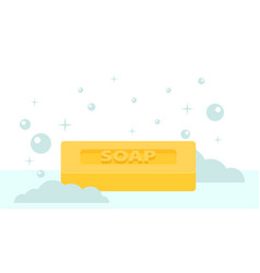 cartoon flat style rectangular soap icon vector image vector image