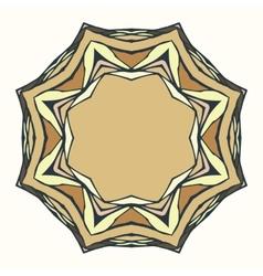 Ethnic round mandala ornamental frame abstract vector image