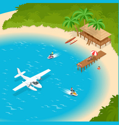 its summer time or summer vacation concept luxury vector image vector image
