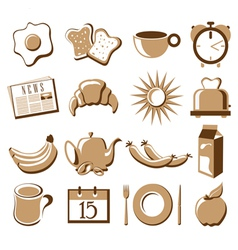 Morning symbol set vector image vector image