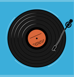 the vinyl player shown schematically and simply a vector image