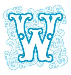 winter vintage letter W vector image vector image