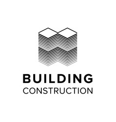 company building logo template vector image