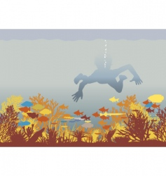 coral boy vector image vector image