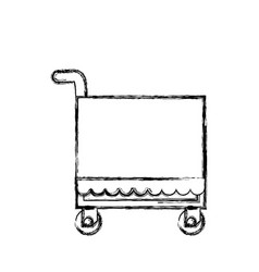 food service trolley vector image
