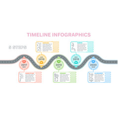 navigation map infographics 5 steps timeline vector image