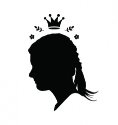 princess with crown vector image