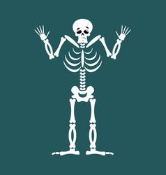 skeleton surprised emoji skull astonished emotion vector image vector image