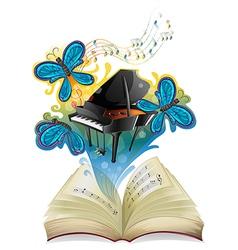 A musical book vector image vector image