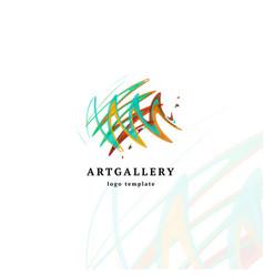 abstract art gallery modern logo unusual vector image