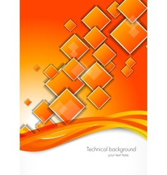 Abstract background with orange squares vector image vector image